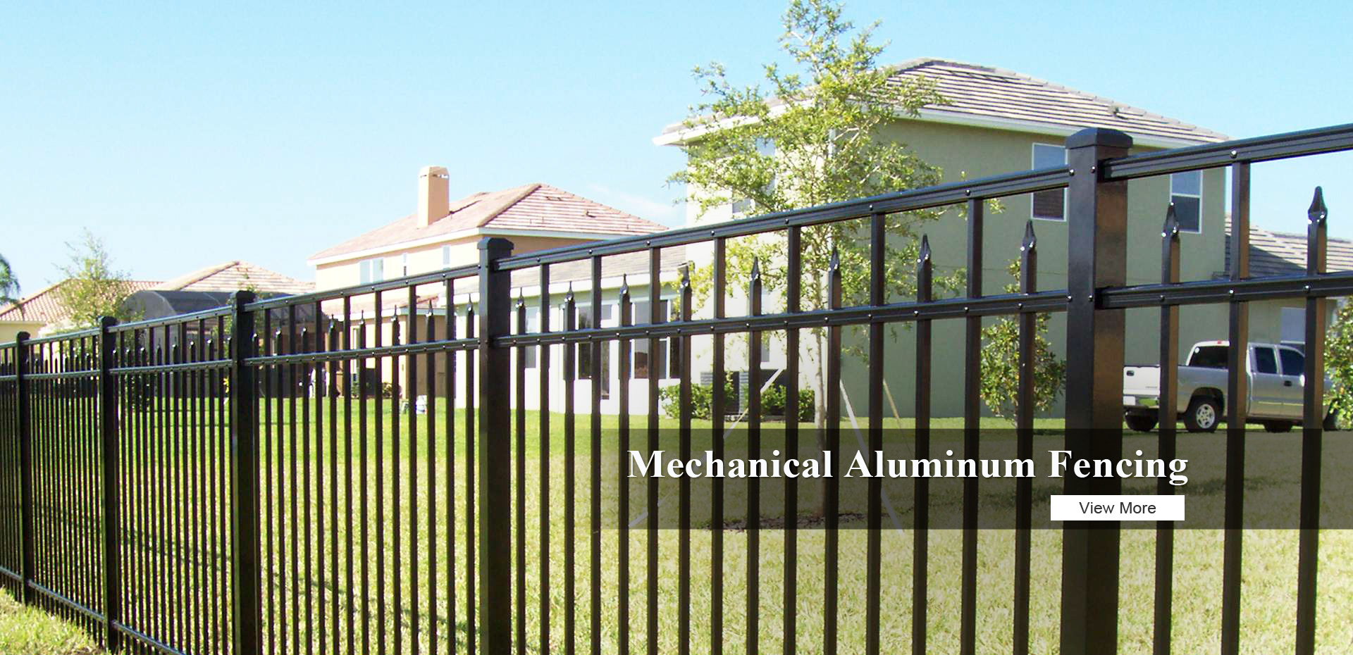 Mechanical Aluminum Fence