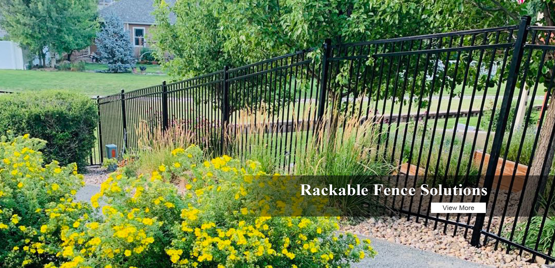 Rackable Fence Solutions for Slope Terrain