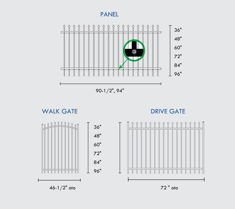 Aluminum Mechanical Fence for Commercial