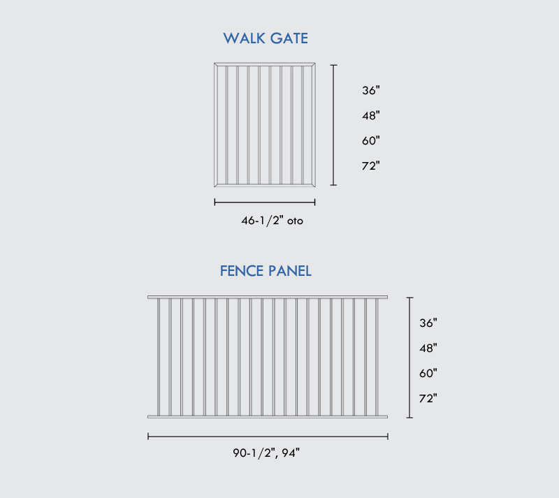Walk Gates Specifications
