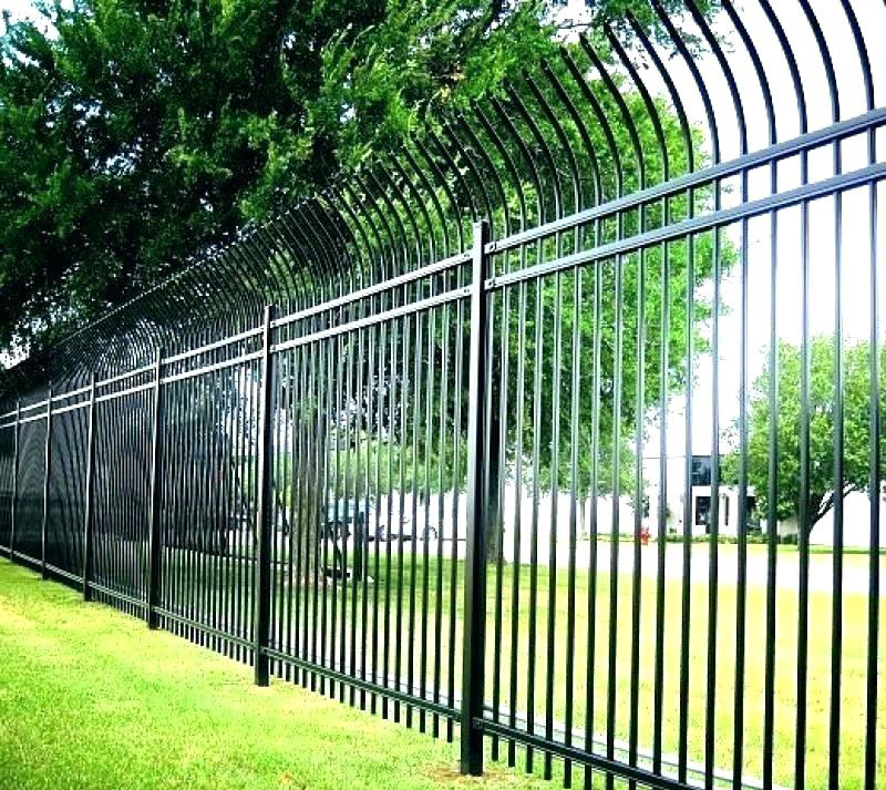 Curved Top Spear Steel Fence